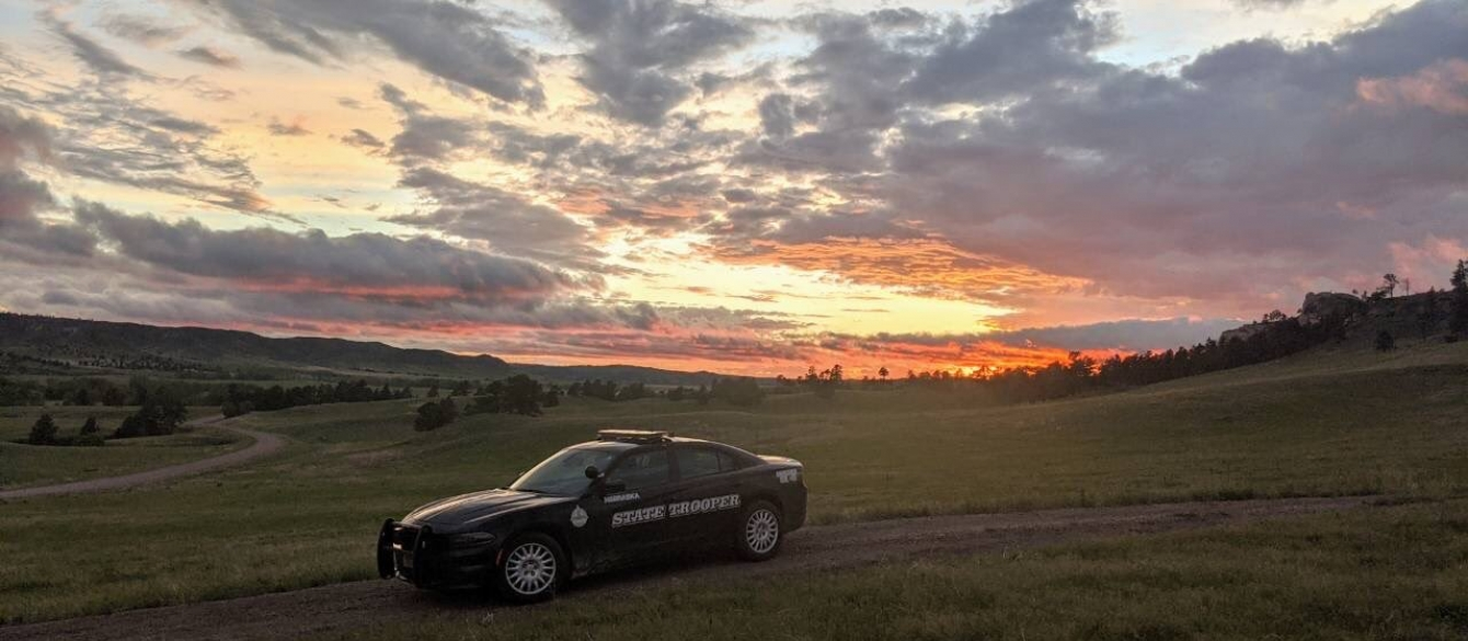 NSP Cruiser in Sioux County sunset