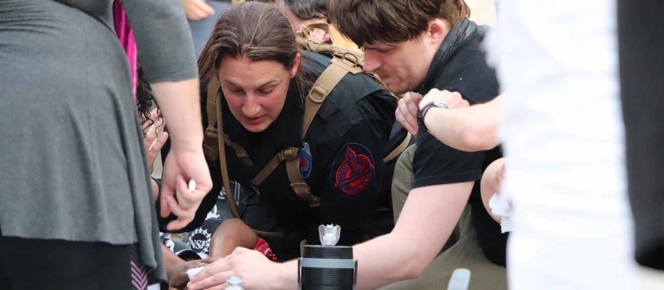 Trooper Assisting a Medical Incident