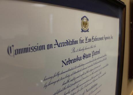certificate of accreditation for the Nebraska State Patrol