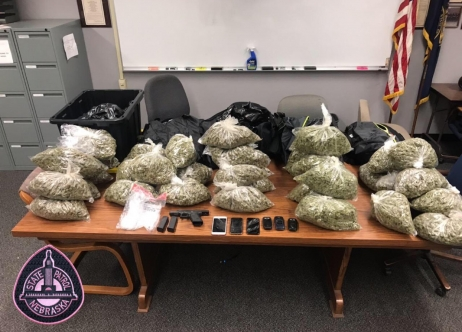 Marijuana and Gun seizure