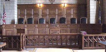 Nebraska supreme court room and chairs