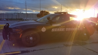 NSP car at sunset