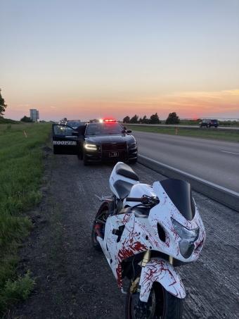 Motorcycle pursuit