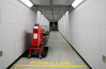 crime lab ballistic firing range