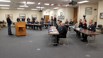 Captain Jeff Roby addresses NSP Camp 60