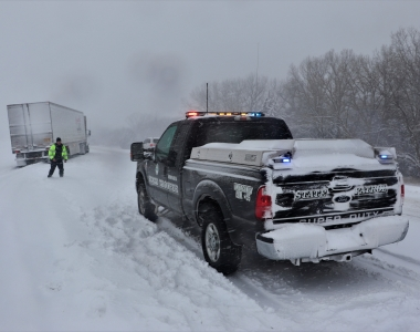NSP Truck in Snow