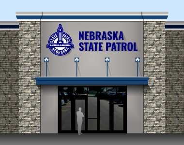 New State Headquarters Entrance