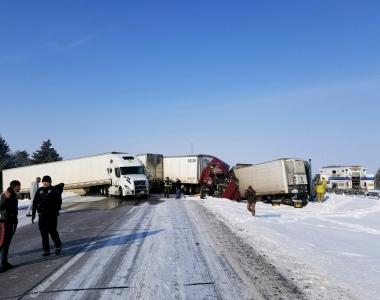 Crash on I-80 Near Aurora
