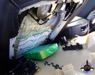 Cocaine inside seat