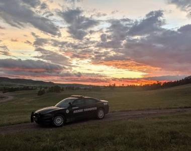 Cruiser at sunset